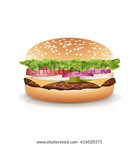 fast food realistic burger