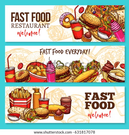 fast food restaurant banners
