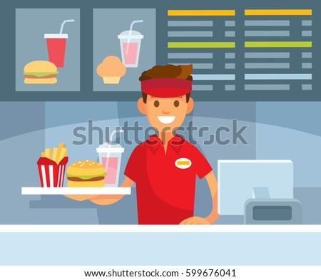 Fast food restraurant worker