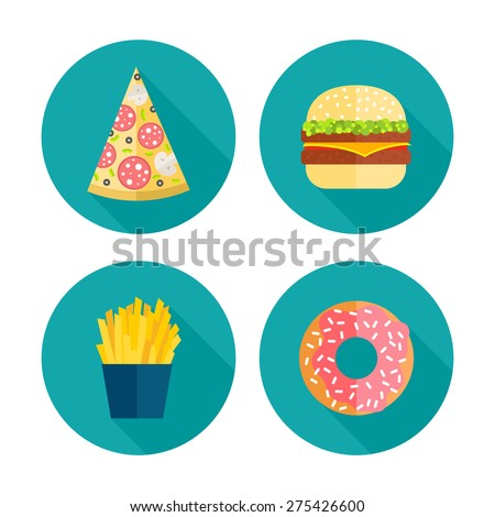 Fast Icon Design Fast Food Vector Icon Design