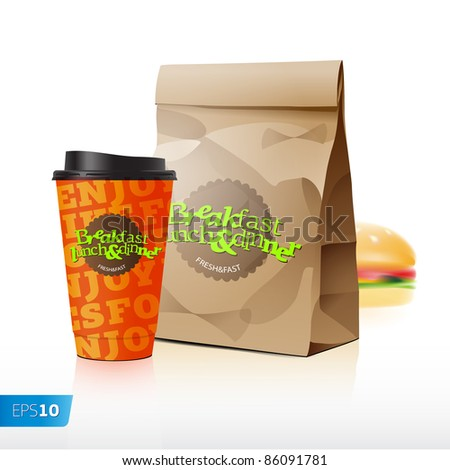 Fast food vector set eps 10
