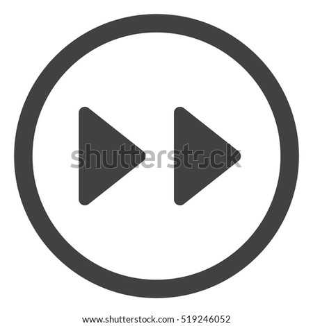 Fast forward double right arrows Icon Vector flat design style