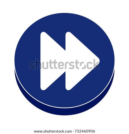 fast forward flat icon