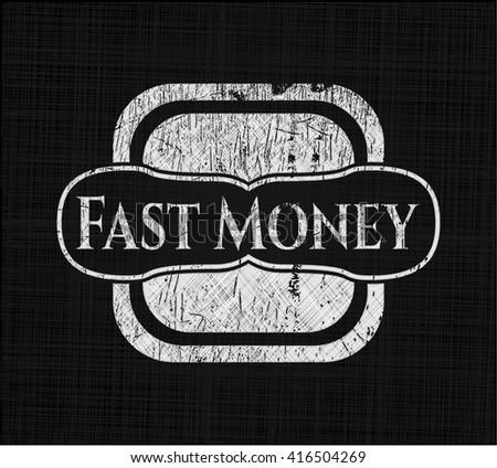 Fast Money chalkboard emblem