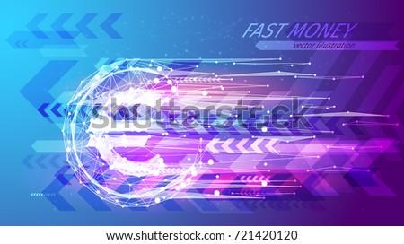 fast money concept euro coin