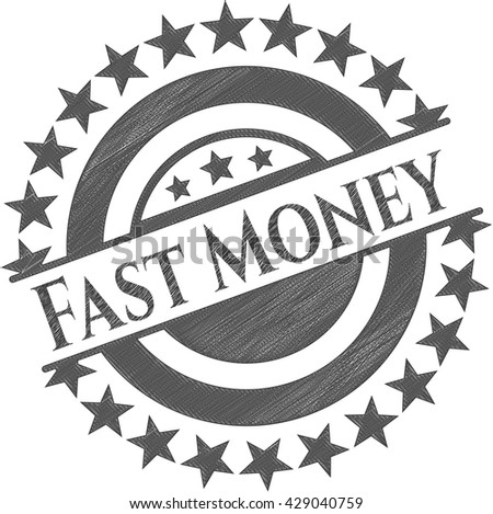 Fast Money draw with pencil effect