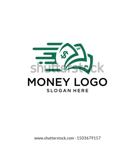 fast money logo combination. Fast pay symbol or icon. Unique cash and digital logotype design template. Stock photo ©