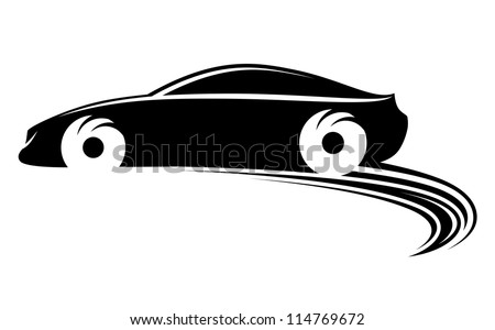 Fast moving car with tire shapes on rally racing such a logo template Jpeg version also available in gallery