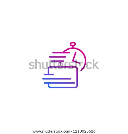 fast payments, line vector icon