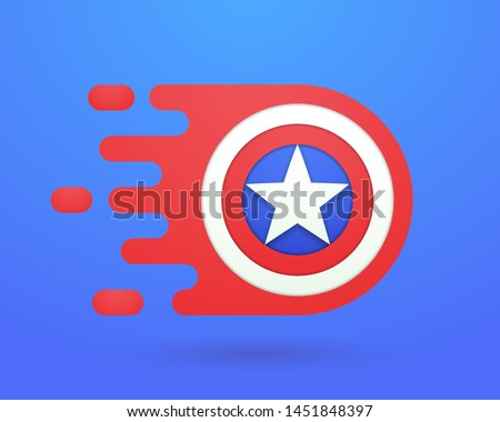 fast red shield template