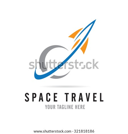 Fast rocket into space logo