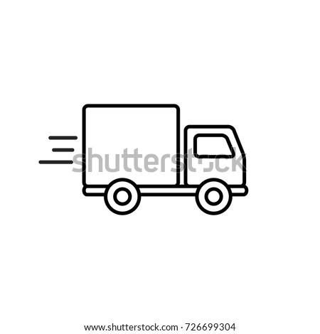 fast shipping delivery truck