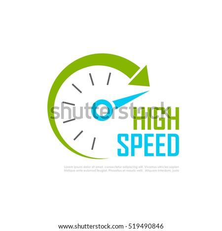 Fast speed logo vector illustration on white background