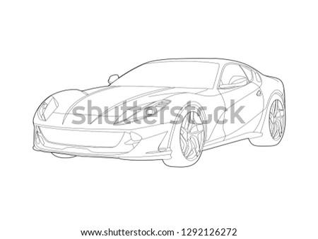 fast sports car. Ferrari 812 SuperFast.