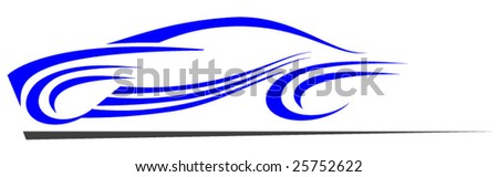 Fast super car abstract design
