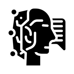 fast think and answer call center operator glyph icon vector. fast think and answer call center operator sign. isolated contour symbol black illustration