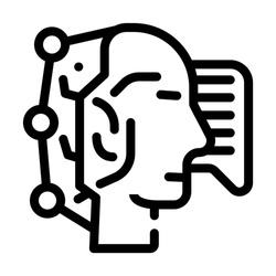 fast think and answer call center operator line icon vector. fast think and answer call center operator sign. isolated contour symbol black illustration