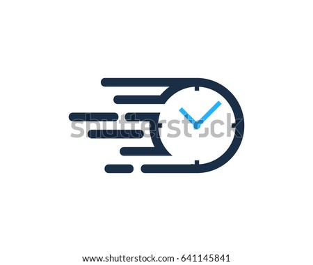 Fast Time Icon Logo Design Element