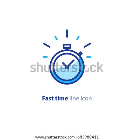 fast time logo  stop watch