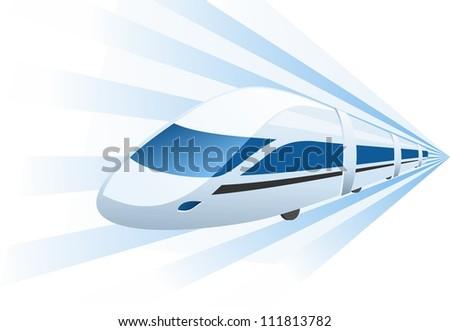 fast train speeding in motion