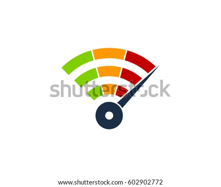 Fast Wifi Logo Design Element