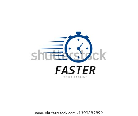 Faster and speed Logo Template vector icon illustration design Stock photo ©