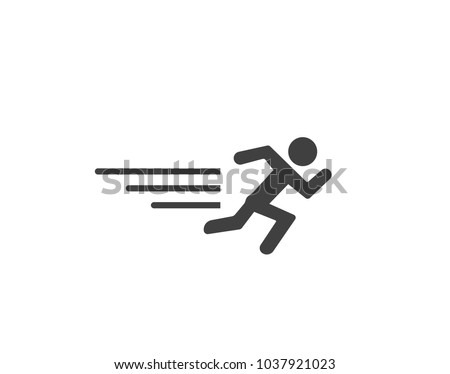 Faster athletic runner icon Stock photo ©