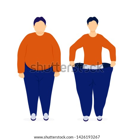 fat and slim man before and