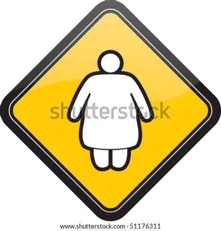 Fat female - stock vector