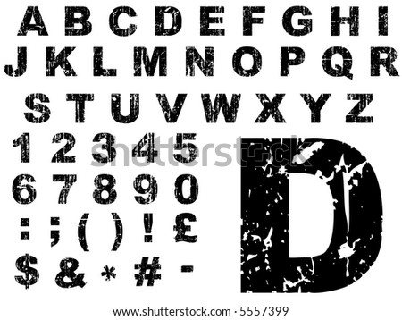 Fat Grunge Alphabet - Letters were created on a Wacom Tablet, and are individually grouped for ease of use.