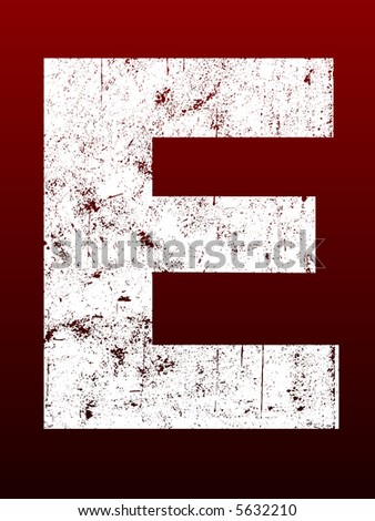 Fat Grunged Letters - E (Highly detailed grunge letter)