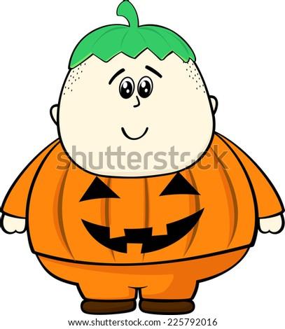 Fat Girl Pumpkin Costume Fat Kid With Pumpkin Costume