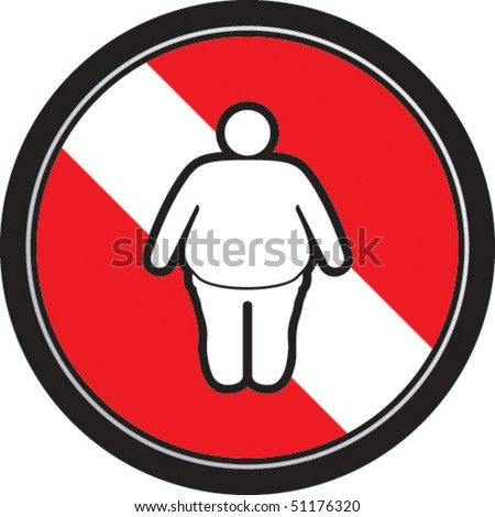Fat male - stock vector