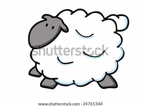 stock vector   fat sheep