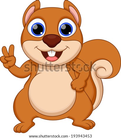 fat squirrel cartoon
