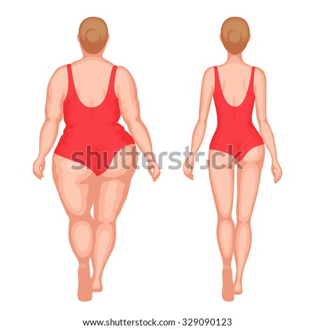 fat woman and slender woman