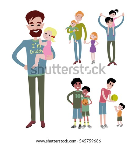 father and kids together