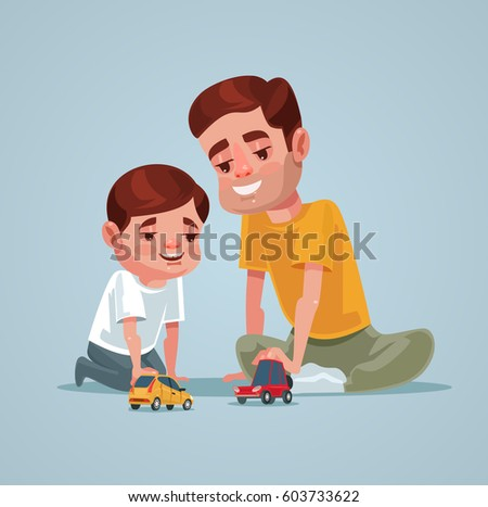 father and son character play