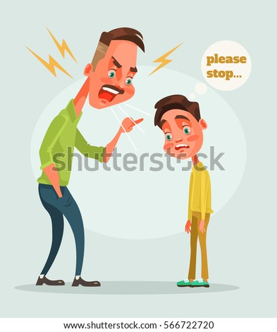 father character scolds son