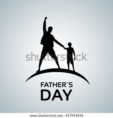 father day holiday  silhouette