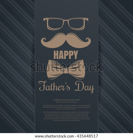father's day card glasses