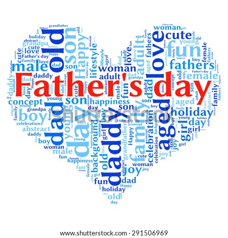 Father's day info-text graphics and arrangement concept