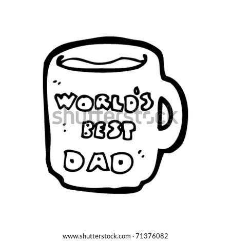 father's day mug cartoon