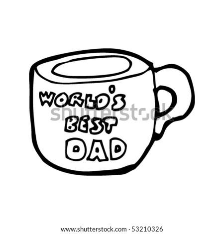 father's day mug drawing