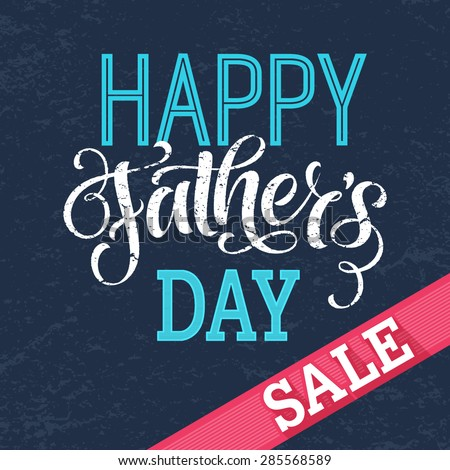 8889659c24934 Father s Day sale vector illustration for discount card