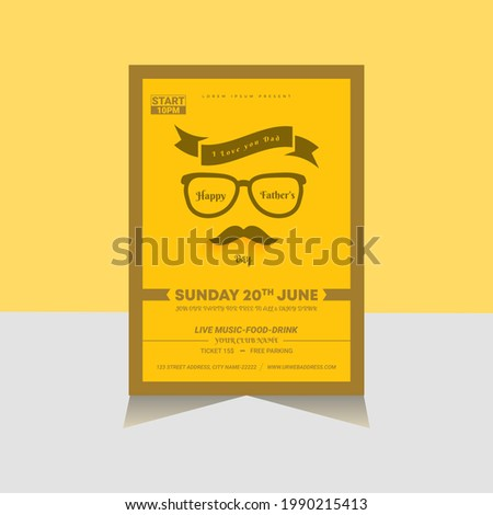 Father's day social media post vector design template