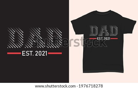 Father's day T-shirt ' Dad est. 2021 ' Foto stock ©