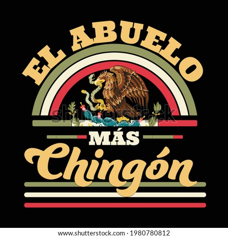 Father's Day, The Best Grandpa, El Abuelo Mas Chingon Stock fotó ©
