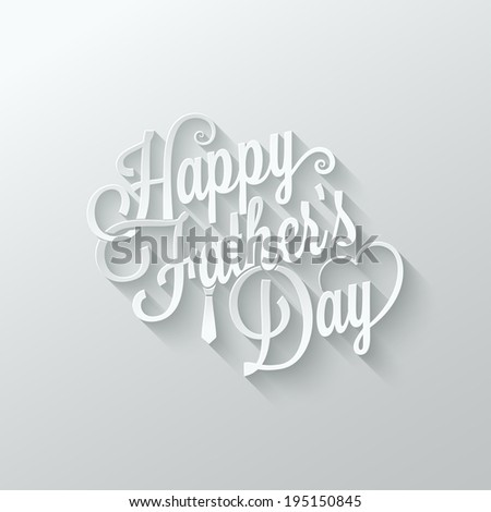 fathers day cut paper lettering background