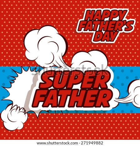 fathers day design over red
